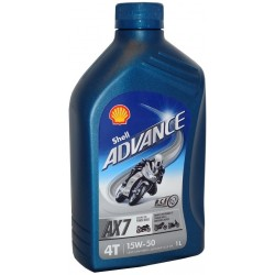 SHELL ADVANCE 4T AX7 15W-50 1 L