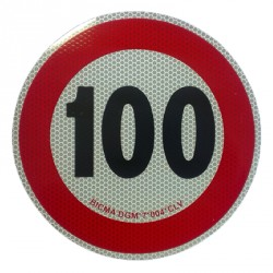 REFLEXNÁ SAMOLEPKA RYCHLOSTI 100 KM/H