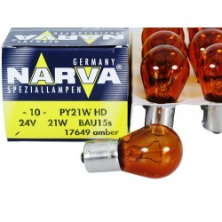 NARVA 24 V 21 W PY21W HD BAU15s 17649