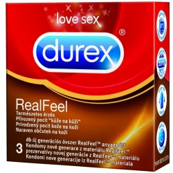 PREZERVATÍV DUREX 3 KS REAL FEEL